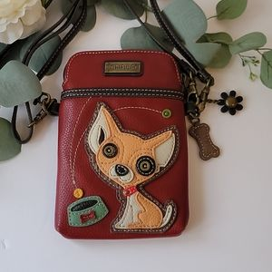 Chala cellphone holder with doggie crossbody bag